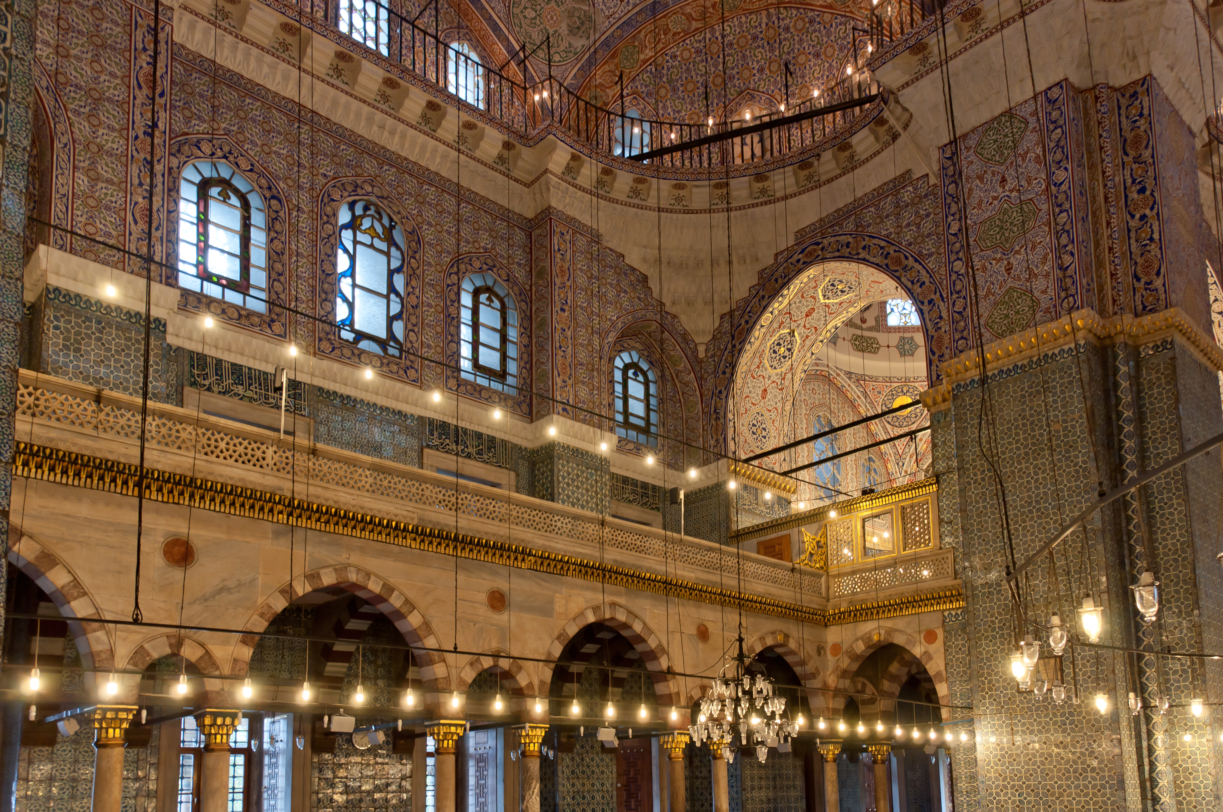 Interior view of the New Mosque in Istanbul