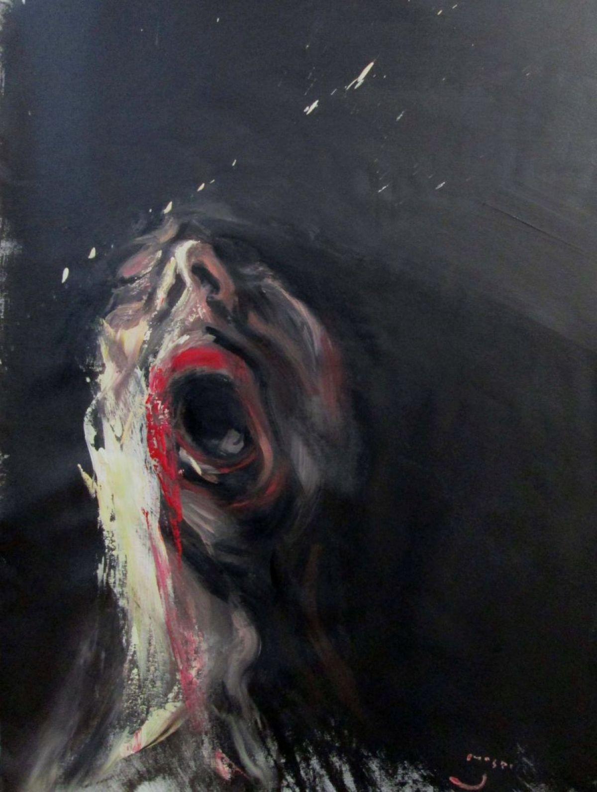 Masri Hayssam - Screaming#22 -Syria series, 2013